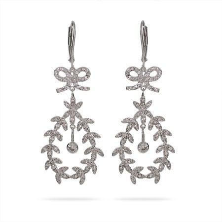 Stunning CZ Leaf Earrings   Eve's Addiction®
