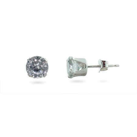 2 Carat CZ Mens Stud Earrings