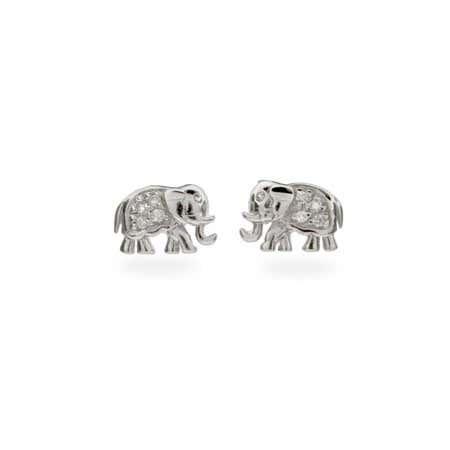 CZ Elephant Earrings