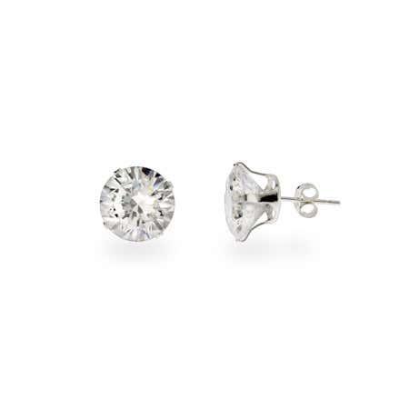 Stunning 4 carat CZ Stud Earrings
