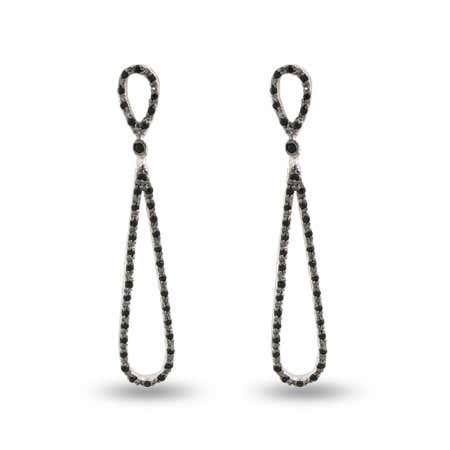 Hollywood Black Onyx CZ Glamour Teardrop Earrings   Eve's Addiction®