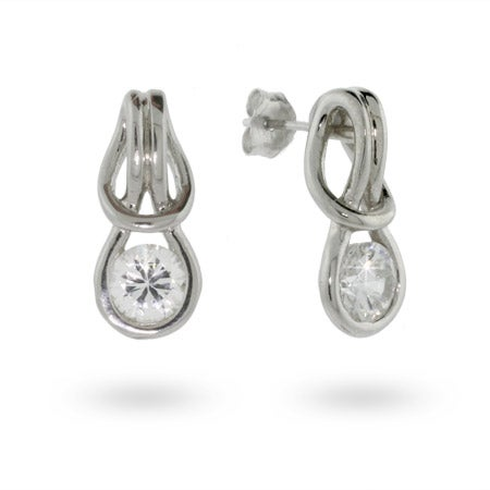 Love Knot Cubic Zirconia Earrings | Eve's Addiction®
