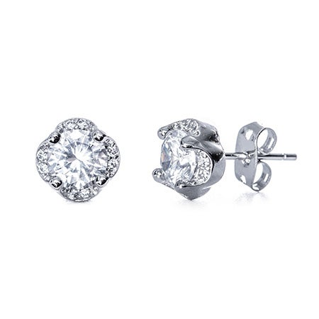 Clover CZ Stud Earrings | Eve's Addiction®