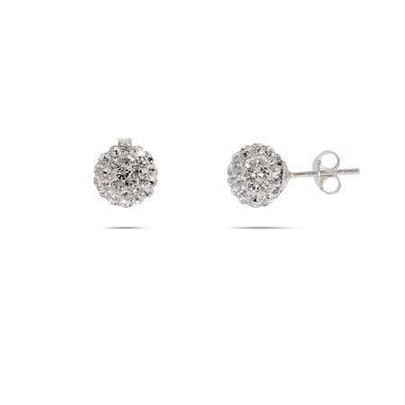 Swarovski Crystal Sterling Silver Bead Earrings