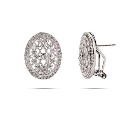 Vampire Inspired CZ Sterling Silver Earrings | Eve's Addiction®