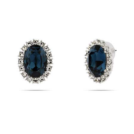 Royalty Inspired Sapphire Swarovski Crystal Earrings | Eve's Addiction®