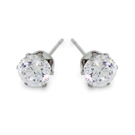 3/4 Carat Sparkling Brilliant Cut CZ Studs | Eve's Addiction®