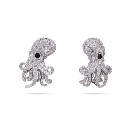 CZ Octopus Earring Studs | Octopus Studs