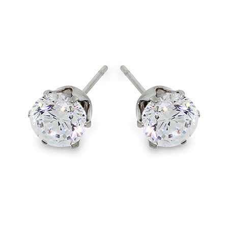3/4 Carat Brilliant Cut CZ Studs