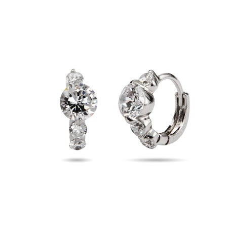 Petite Brilliant Cut CZ Huggies | Eve's Addiction®