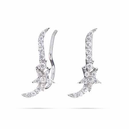 Sparkling CZ Star Ear Crawlers | Eve's Addiction®