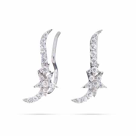 Sparkling CZ Star Ear Crawlers | Eve's Addiction®