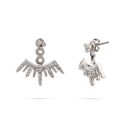 Shashi Arushi Earring Jackets In Sterling Silver
