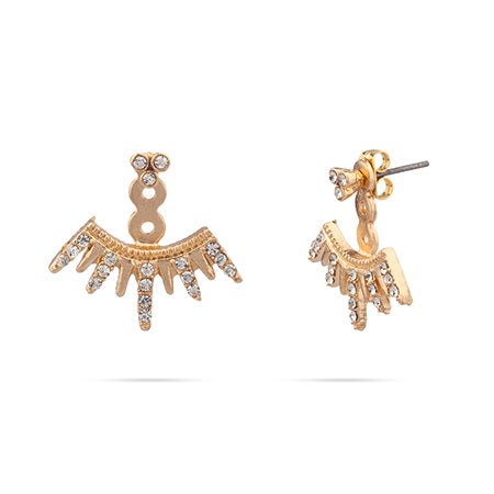 Arushi Earring Jackets In Gold Vermeil by Shashi   Eve's Addiction®