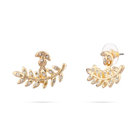 Amelia Leaf Earring Jackets in Gold Vermeil by Shashi | Eve's Addiction®