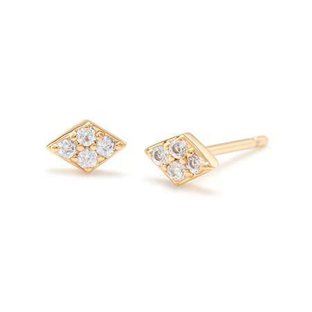 gorjana Petra Shimmer Diamond Studs in Gold