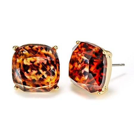 Fornash Blake Earrings with Tortoise Stones