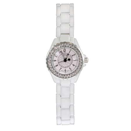 Designer Style CZ White Fashion Watch | Eve's Addiction®