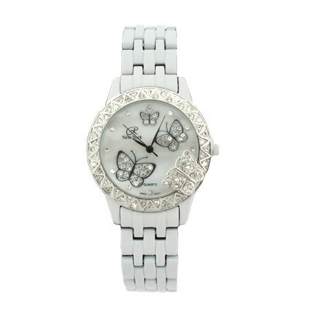 White CZ Butterfly Watch   Eve's Addiction®