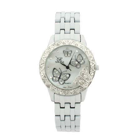 White CZ Butterfly Watch | Eve's Addiction®