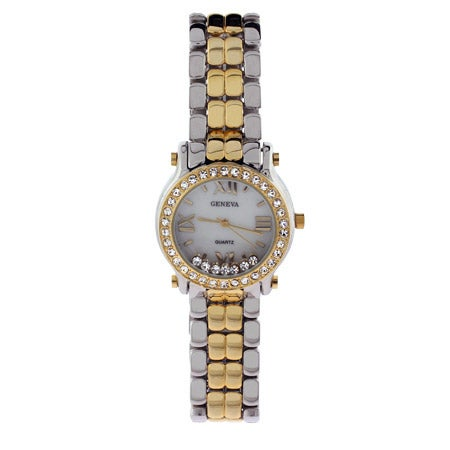 Designer Inspired Two Tone Floating CZs Fashion Watch | Eve's Addiction®