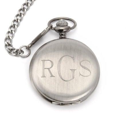 Stainless Steel Custom Engraved Pocket Watch