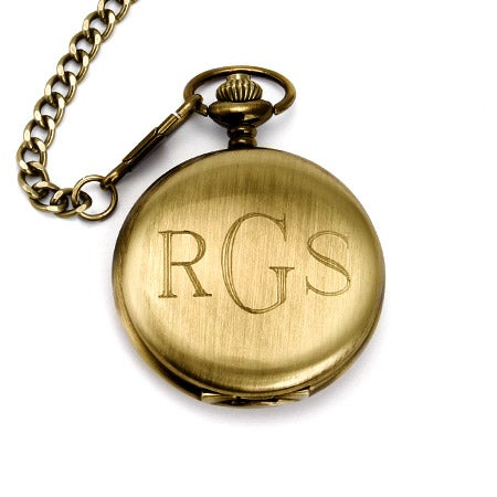 Gold Plated Engravable Pocket Watch