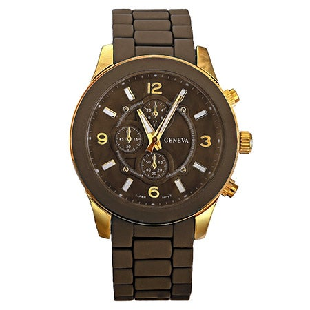 Designer Inspired Brown and Gold Watch | Eve's Addiction®