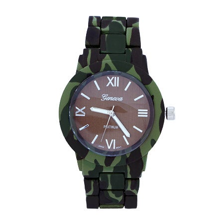 Green Camo Print Watch | Eve's Addiction®