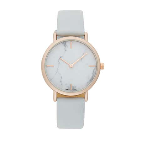 Grey And Rose Gold Marble Face Japanese Quartz Watch