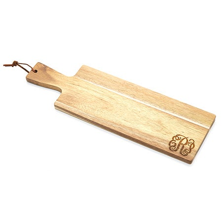 Personalized Monogram Wood Bread Board