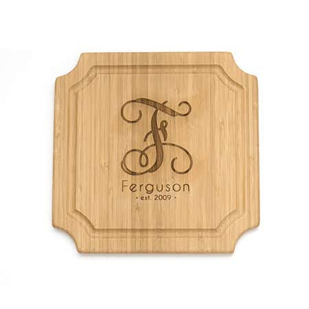 Personalized Single Initial Family Name Cutting Board