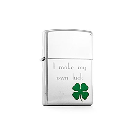 Personalized Bit O' Luck Zippo Lighter