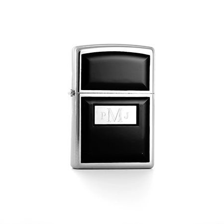 Personalized Black Ultralite Zippo Lighter