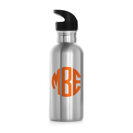 Personalized Block Monogram Stainless Steel Water Bottle