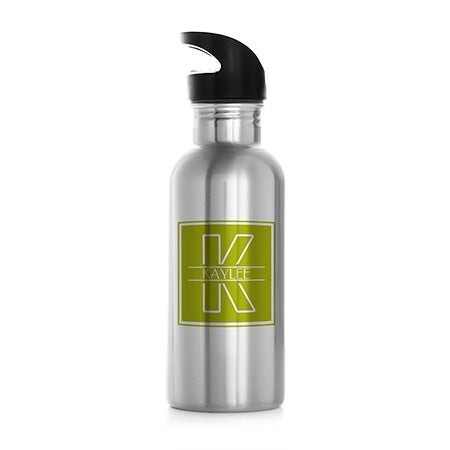 Personalized Initial Stainless Steel Water Bottle