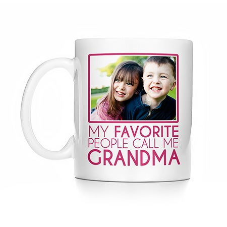 Personalized My Favorite People Call Me Grandma Photo Mug