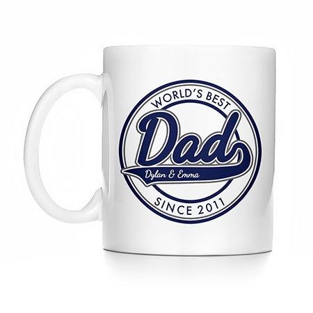 Personalized World's Best Dad Mug