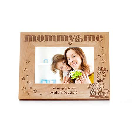 Personalized Mommy and Me Carved Wood Frame