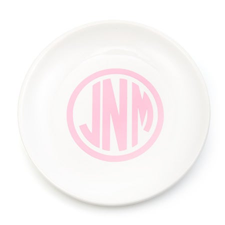Monogram Ceramic Jewelry Dish