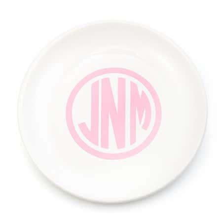 Monogram Ceramic Jewelry Dish