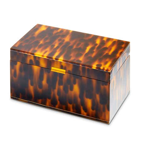 Monogram Tortoise Acrylic Jewelry Box