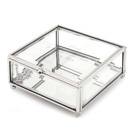Glass Engravable Jewelry Box | Engraved Clear Jewelry Box