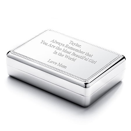 sterling silver engravable jewelry box gift for bridesmaids and cheap bridesmaids gifts