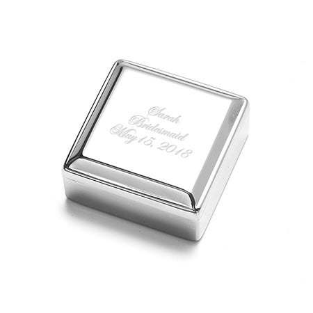 Engravable Square Jewelry Box