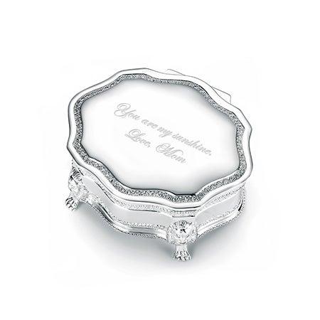 Engravable Princess Victorian Jewelry Box