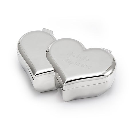 Heart Engravable Engagement Ring Box | Eve's Addiction