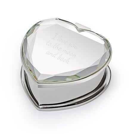 Custom Engagement Ring Box   Mirror Engravable Ring Box