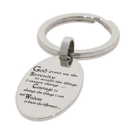 Serenity Prayer Keychain | Eve's Addiction