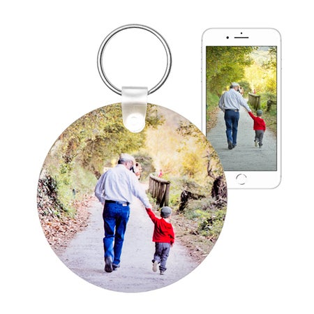 Round Custom Photo Keychain